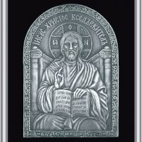 Плакети икони от посребрен месинг с благородна патина на среброто