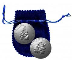 паричка сребро със синя торбичка