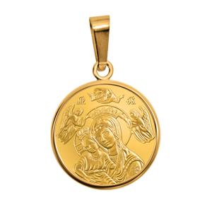 Златни медальони с подарък обков от позлатено сребро